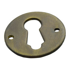 FE-6 Round Keyhole Escutcheon, Antique