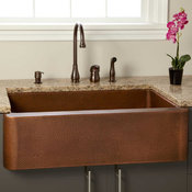 "36"" Fiona Hammered Copper Farmhouse Sink"