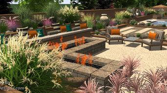 3D Backyard Squared - Firepit 1
