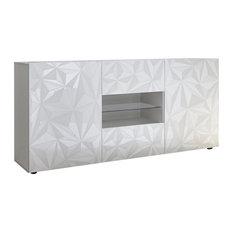 Prague Modern Sideboard, White