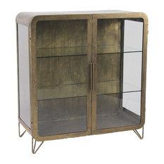 Alpha 2-Door Gold Glass Display Cabinet