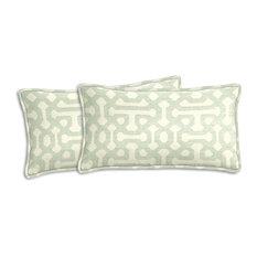 Sunbrella Fretwork Mist Lumbar Pillow Set