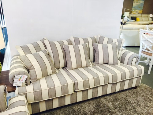 Most Comfy Sofas We Have Set On A Large Open Plan Living Area Any Tips Styling And Is Two Of These Facing Each Other Too Much Stripes