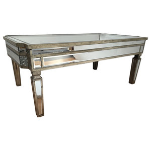 Rustic Mirrored Coffee Table