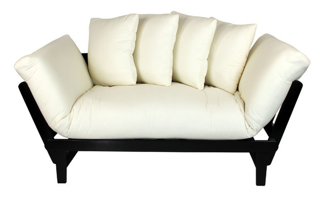 Casual Lounger Sofa Bed, Espresso Frame