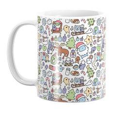 Society6 Christmas Doodle Mug
