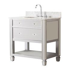 Paris Bath Vanity Sink With Marble Top