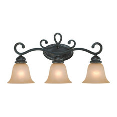 Craftmade 25203 Highland Place 3-Light Bathroom Vanity Light, Mocha Bronze