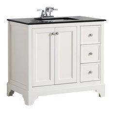 1st Avenue Chartres Granite Top White Vanity 36 Bathroom Vanities And