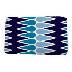 "Upscale Getaway Multi Colored Picks Geometric Print Bath Mat, Navy Blue, 24""x36"""