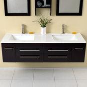 "59"" Bellezza Double Sink Vanity - Espresso (FVN6119UNS)"