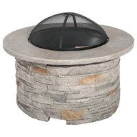 Cordary Outdoor Natural Cement Fire Pit