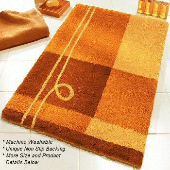 Orange Bath Rug Home Decors Collection