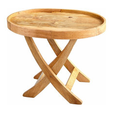 Cyan Design Rustica 30 X25 Oval Tray Table Natural