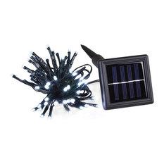 100-Led Solar String Fairy Light Waterproof, White