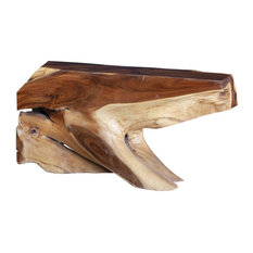 60-inch L Penelope Console Table Solid Acacia Wood Natural Freeform One Of A Kind