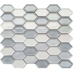 """Rocky Point Tile Co - Honeycomb Beveled Picket Porcelain Mosaic Tiles, Sky Mist, 5 Square Foot Box - You are purchasing 5 Square Feet of Honeycomb Beveled Picket Porcelain Mosaic Tiles - Sky Mist.  A stunning 2.75"""" x 1.5"""" porcelain elongated hexagon tile available in 4 varying colors. Also available in an hexagon dimension. This tile works fantastic on its own and also pairs well paired with larger tiles."""