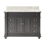 """48"""" Kerianne Bathroom sink Vanity Cabinet Model HF-1084CK-BS, Carrara/Gray"""