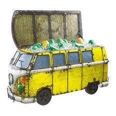 Think Outside Yellow Kombi Handmade Metal Fully Functional Beverage Cooler