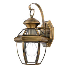 Shop top rated traditional brass outdoor wall lights and sconces houzz quoizel quoizel newbury 12 12 in 1 light outdoor wall sconce workwithnaturefo