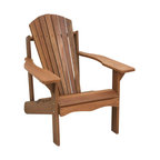 Tioman Hardwood Adirondack Patio Chair, Teak Oil