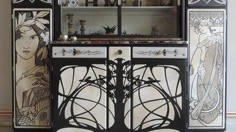 Buffet mado Mucha Art nouveau