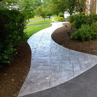 Stamped Concrete Walkway Houzz
