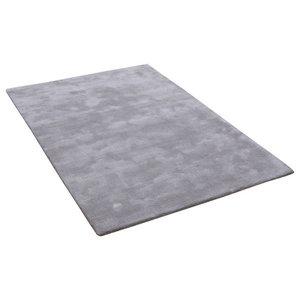 Aran Feather Grey Rectangle Plain/Nearly Plain Rug 160x230cm