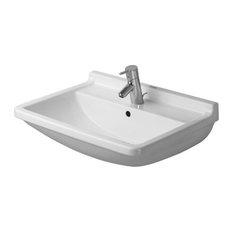 """Duravit Starck 3 25 5/8""""x19 1/8"""" Bathroom Sink, White"""
