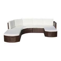 Vidaxl 16 Piece Garden Sofa Set Poly Rattan Black Brown