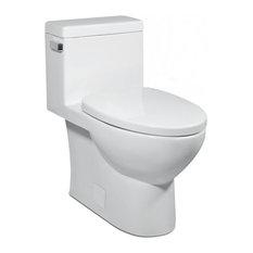 Vista II 1P 1.28gpf Compact-Elongated Toilet, White