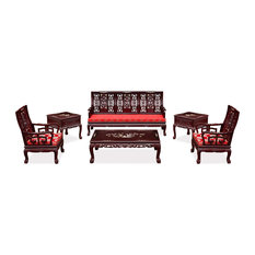 Rosewood Imperial Court Living Room Set, 6-Piece Set