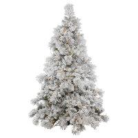 Vickerman Flocked Alberta Tree With Pinecones, 15', Warm White Led Lights