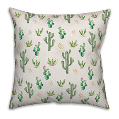 Cactus Pattern 20x20 Throw Pillow
