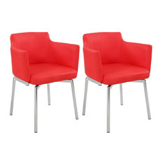 Club Style Swivel Arm Chair Kd 2 Per Box (Set of 2) - Red