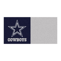 "18""x18"" NFL Dallas Cowboys Carpet Tiles, Set of 20"
