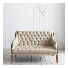 Bath Button Back Two-Seater Sofa With Colored Buttons