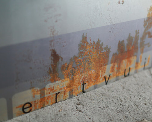 print on partial rusted metal - First series - Mixed Media - Kunst