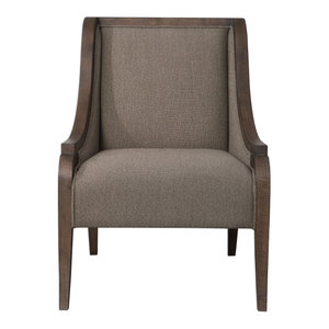 Uttermost Vaughn Walnut Accent Chair