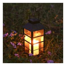 LED Solar Lantern Outdoor Hanging Solar Lights Waterproof Candle