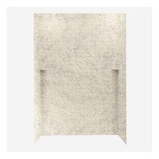 Swan 36x62x96 Solid Surface Shower Wall Kit, Mounta Haze
