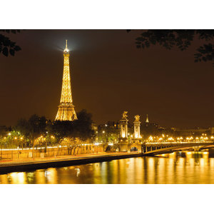 Eiffel Tower Skyline Photo Wall Mural, 254x184 cm
