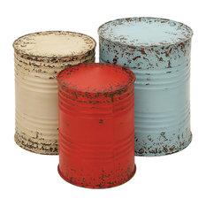 Silo Drum Tables, Set of 3