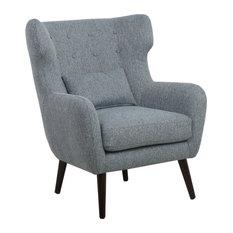 Charlotte Linen-Effect Resident Chair, Grey