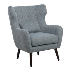 Shankar UK LLP - Charlotte Linen-Effect Resident Chair, Grey - Armchairs & Accent Chairs