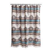 Badlands Southwest Striped Shower Curtain