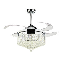 1st Avenue - Dundee Ceiling Fan With Light, Chrome - Ceiling Fans