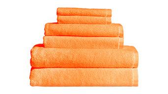 Maxkin Bamboo Fiber 6-Piece Towel Set, Orange