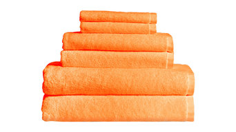 Maxkin Bamboo Fiber 6-Piece Towel Set, Orange
