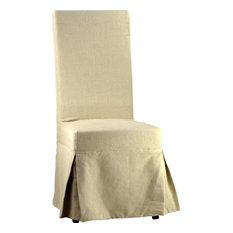 Dining Chair DOVETAIL ABBOTTS Linen Hardwood